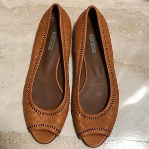 Bottega Veneta Peep-toe Intrecciato Shoes Flats 39